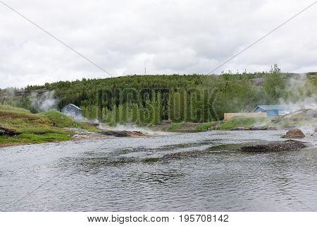 Gamla Laugin: Natural hot springs surrounding the Secret Lagoon