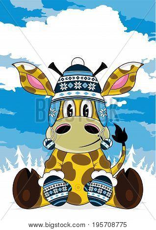 Cute Bobble Giraffe Scene.eps