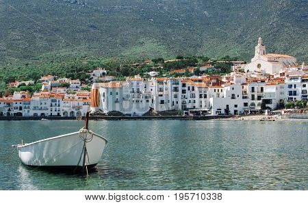 Spain. Catalonia. Cadaques On The Costa Brava. The Famous Tourist City Of Spain. Nice View Of The Se