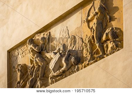 Relief on the Brandenburg Gate in Berlin, Germany