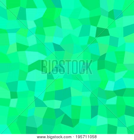 Abstract geometrical irregular rectangle mosaic background - polygonal vector graphic design from rectangles in green tones