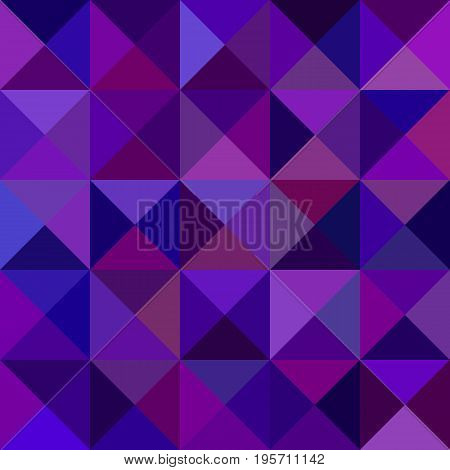 Dark purple geometric abstract triangle mosaic pattern background - vector graphic from triangles