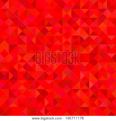 Geometrical abstract triangle tiled background - vector graphic from triangles in red tones
