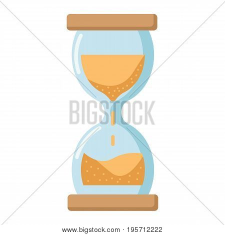 Hourglass flat icon, business and deadline, vector graphics, a colorful solid pattern on a white background, eps 10.