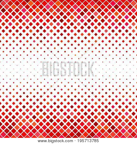 Abstract square pattern background - geometrical vector graphic design from diagonal squares in red tones