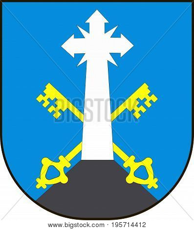 Coat of arms of Zakopane is a town in the extreme south of Poland. Vector illustration from the