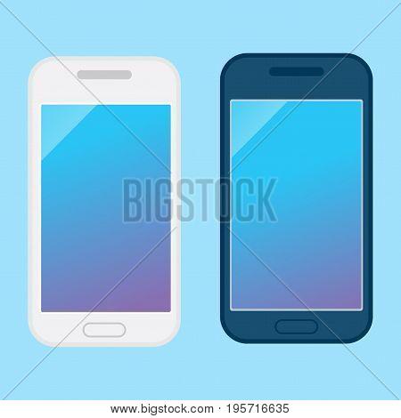 Two Modern Smartphone