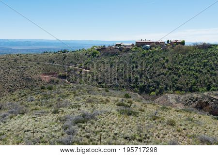 Modern hilltop homes and businesses Jerome Arizona