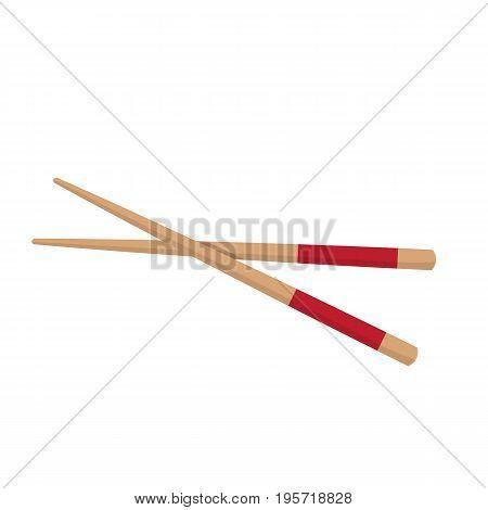 Chopstick Japanese Icon Isolated on White. Vector Illustration EPS10