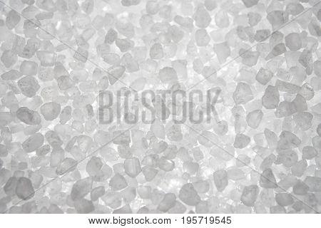 Extreme Closeup Of Sea Salt