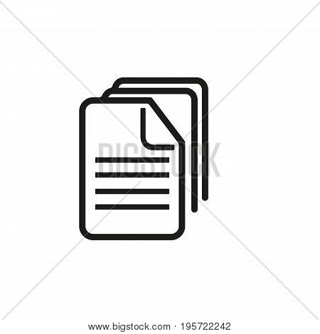 Simple icon of row of folders. Document, archive, register. School concept. Can be used for application icons, buttons and pictograms