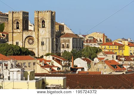 Oldest Cathedral and Se of Lisbon in Portugal