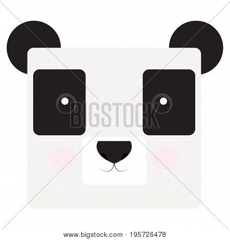 Isolated face of a panda, Vector illustration