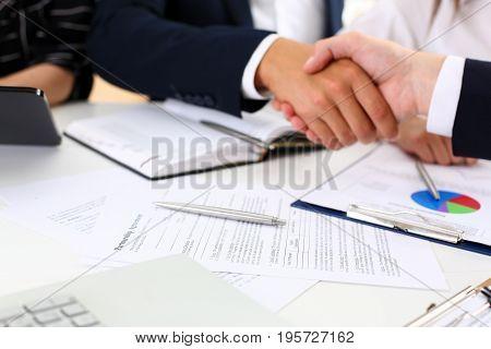 Partnership Agreement Closeup