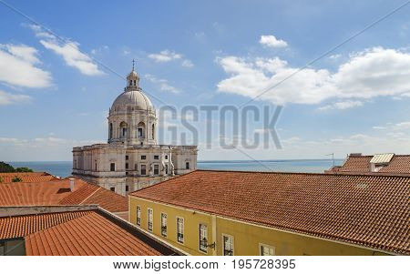 National Pantheon - Church of Santa Engracia in Alfama district in Lisbon Portugal