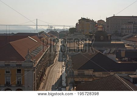 View of Arsenal' s street at Lisbon downtown