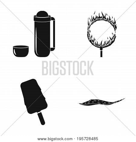 ocean, sea, travel and other  icon in black style.sweetness, scat, fish, icons in set collection