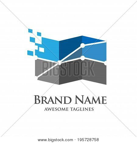 concept of accounting, banking, success, art of business Logo template