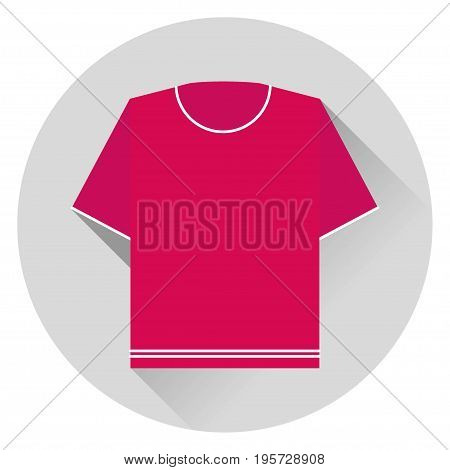 sweater short sleeve Burgundy striped icon on gray background with shadow