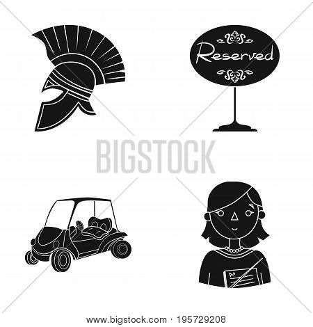 tourism, history, sport and other  icon in black style education, teacher, pointer icons in set collection.