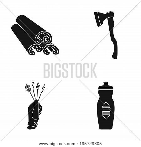 liquid, plastic, accessories and other  icon in black style., infringement, bottle, water icons in set collection