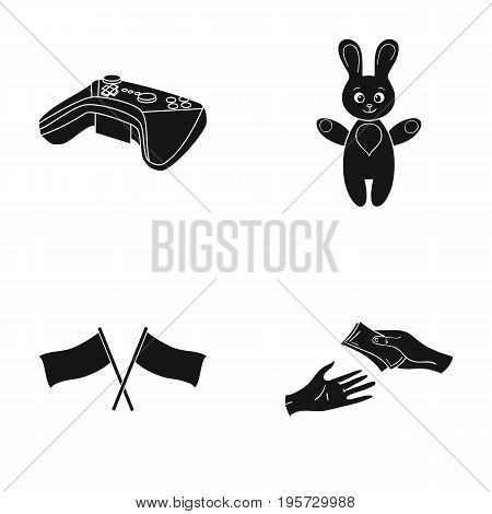 Bank, business, trade and other  icon in black style. money, bargaining, credit icons in set collection.
