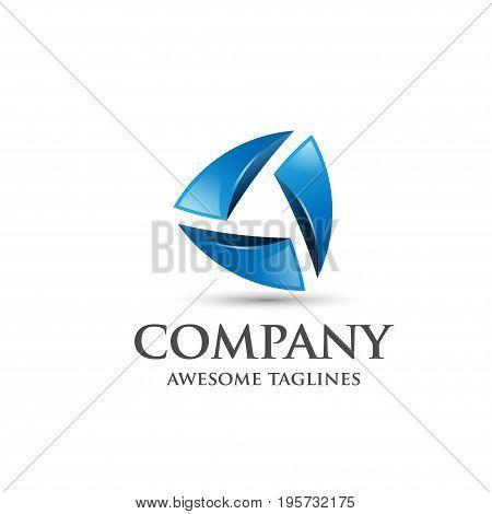 Abstract 3d logo,elegant modern geometric business corporate emblem 3d