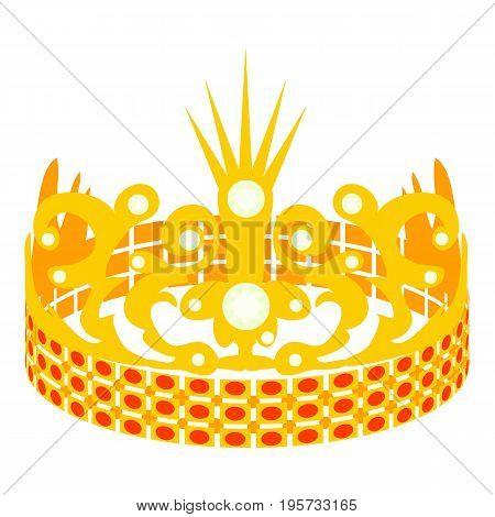Crown of the Princess icon. Cartoon illustration of crown of the Princess vector icon for web