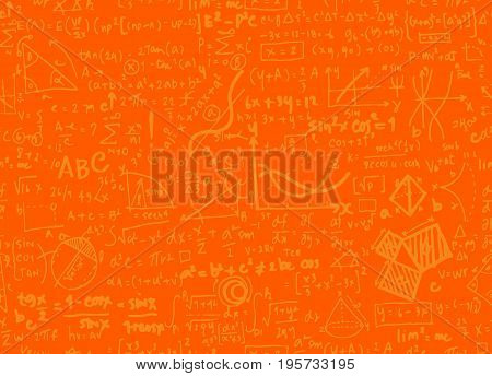 Math Linear Mathematics Education Circle Background With Geometrical Plots,seamless Background Doodl