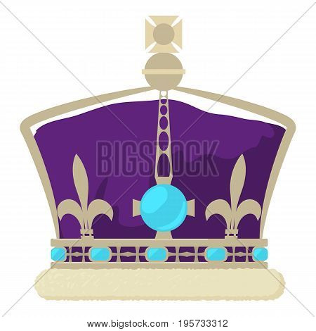 Crown of the King icon. Cartoon illustration of crown of the King vector icon for web