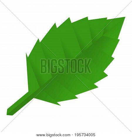Origami leaf icon. Cartoon illustration of origami leaf vector icon for web