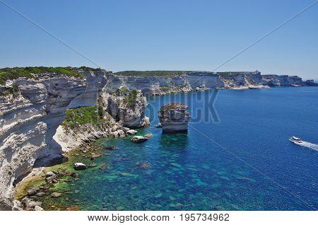 The White Cliffs Of Bonifacio, Corsica.
