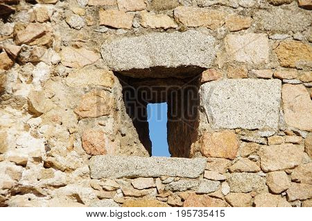 Narrow Windows On A Medieval Wall