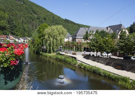 Scenic view of Vianden town in Luxembourg
