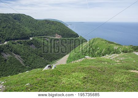 Skyline Trail - Ocean, Cape Breton Highlands
