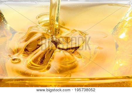 Cooking oil is plant, animal, or synthetic fat used in frying, baking, and other types of cooking. It is also used in food preparation and flavoring not involving heat