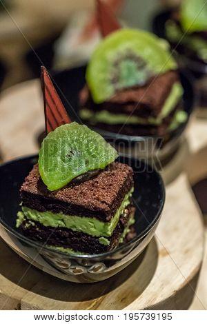 Green Tea Cake with dried kiwi