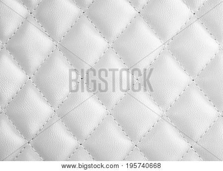white color leather for background and texture