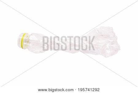 recycling plastic bottle isolated on white background