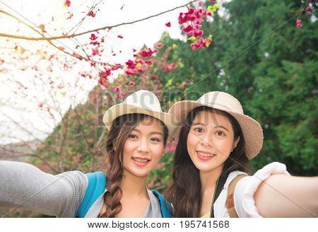 Asian Women Taking Self Portrait Selfie Photo