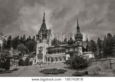 Peles is a modern day castle in Transylvania Romania