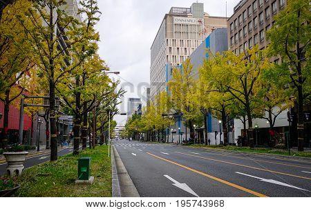 Street At Downtown In Sendai, Japan
