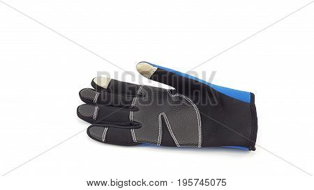 Anti Slip Touch Screen Blue And Black Glove For Winter