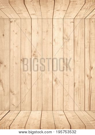 Light brown wooden planks, wall, box, wall surface wood texture