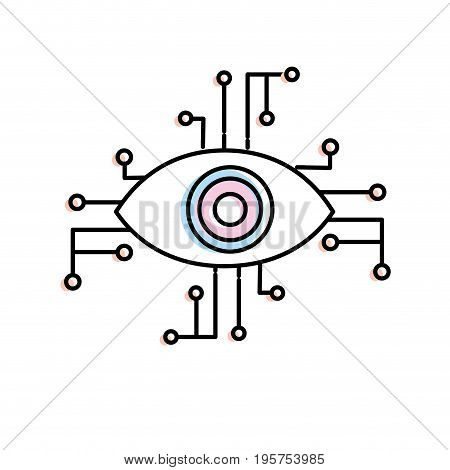 visual technology connect in the cyberspace structure vector illustration