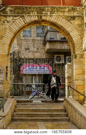 Scene Of The Ultra-orthodox Neighborhood Mea Shearim, Jerusalem