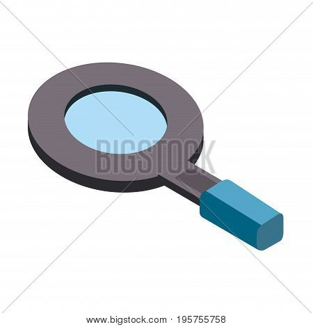 magnifying glass tool to search and explore vector illustration
