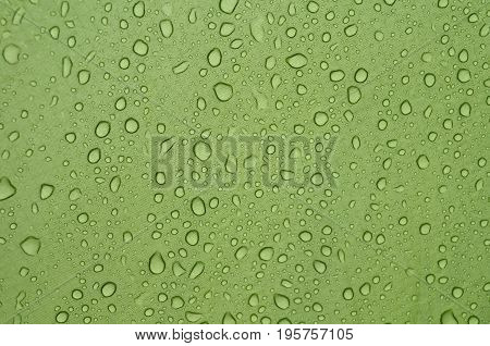water drops,water splashes, water splashes on a green background