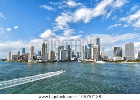 Aerial View Of Miami Waterfront
