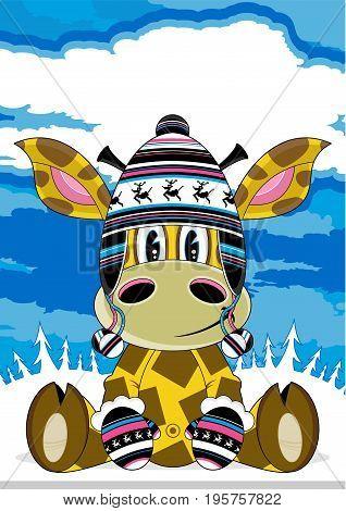 Funky Giraffe In Wooly Hat